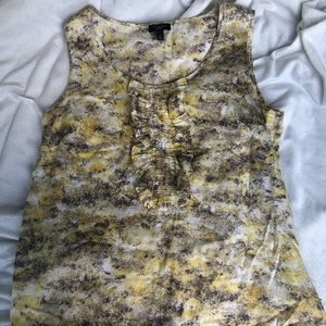 Talbots Yellow Sleeveless Top 6P New W/O Tags